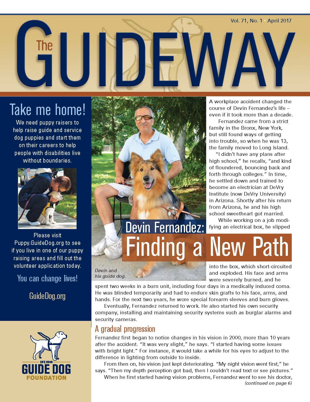 Cover of latest Guideway newsletter.