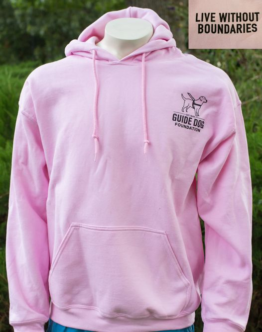 Guide Dog Foundation Pink Hooded Sweatshirt L