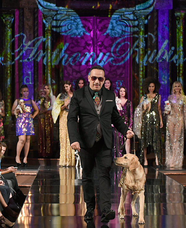 Anthony and Sunny walk the runway during NYFE.