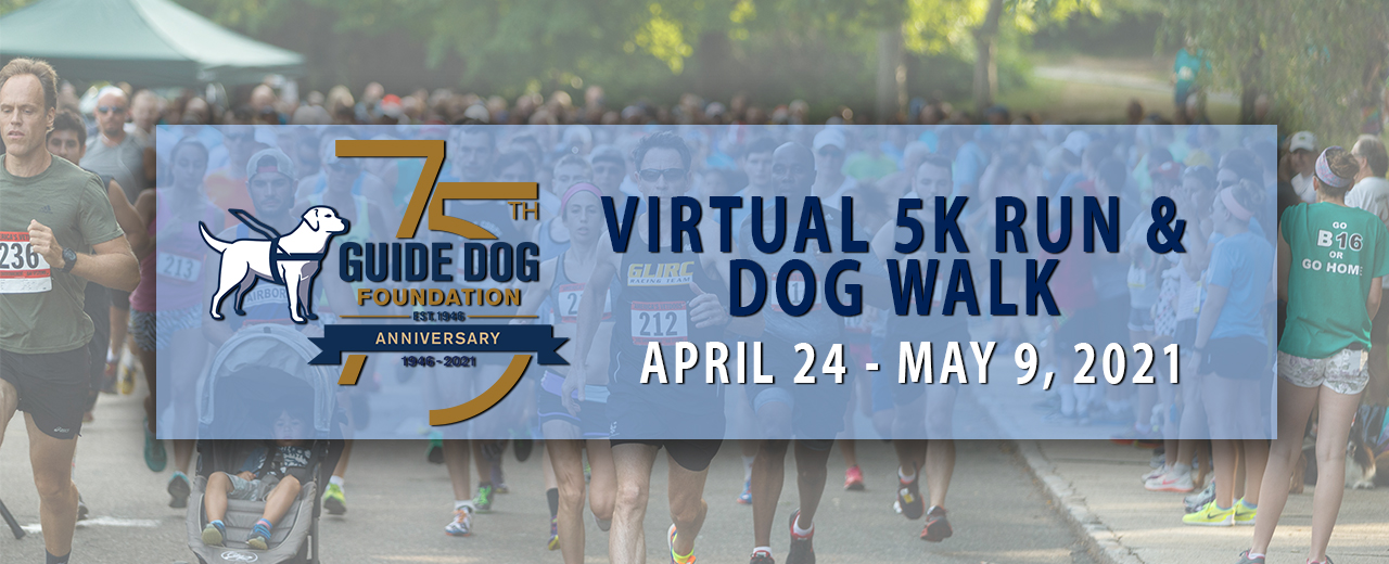 Header for virtual run landing page. Logo on top of runners at previous GDF event.