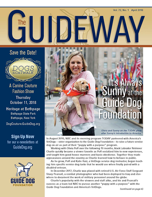 Photo shows an issue of the Guideway newsletter.