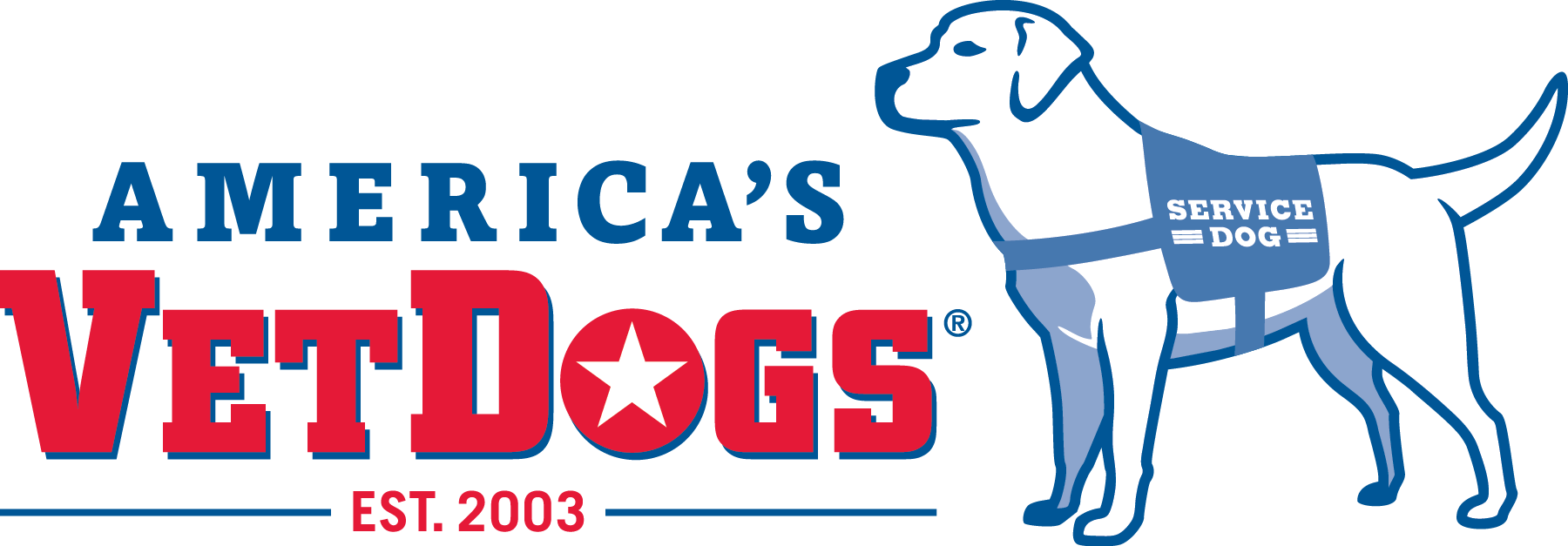VetDogs logo and link to vetdogs.org