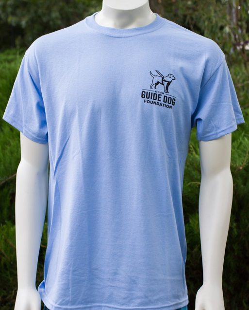 Guide Dog Light Blue T Black Ink Large