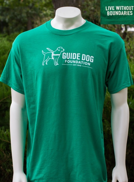 Guide Dog Foundation Kelly Large Logo T-Shirt Medium