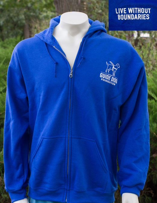 Guide Dog Foundation Royal Blue Zip Up Sweatshirt 2X