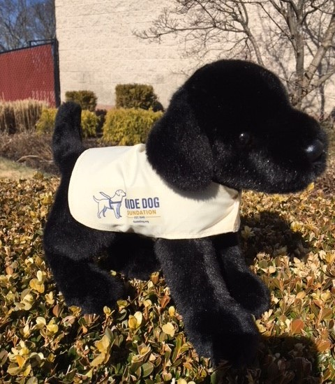 Plush Black Lab Pup in GDF Vest