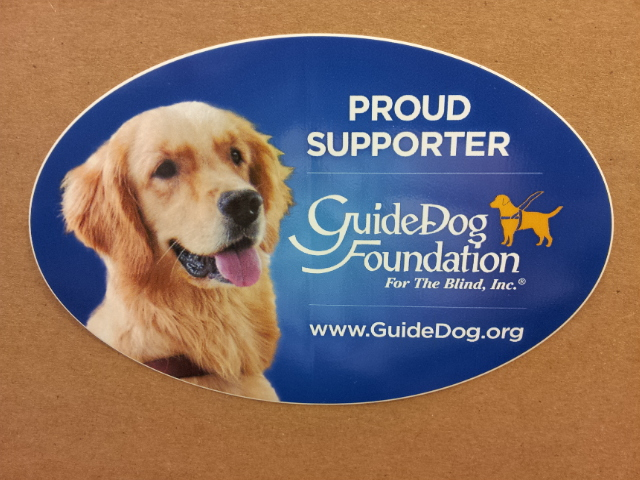 Guide Dog Foundation Removable Car Decal