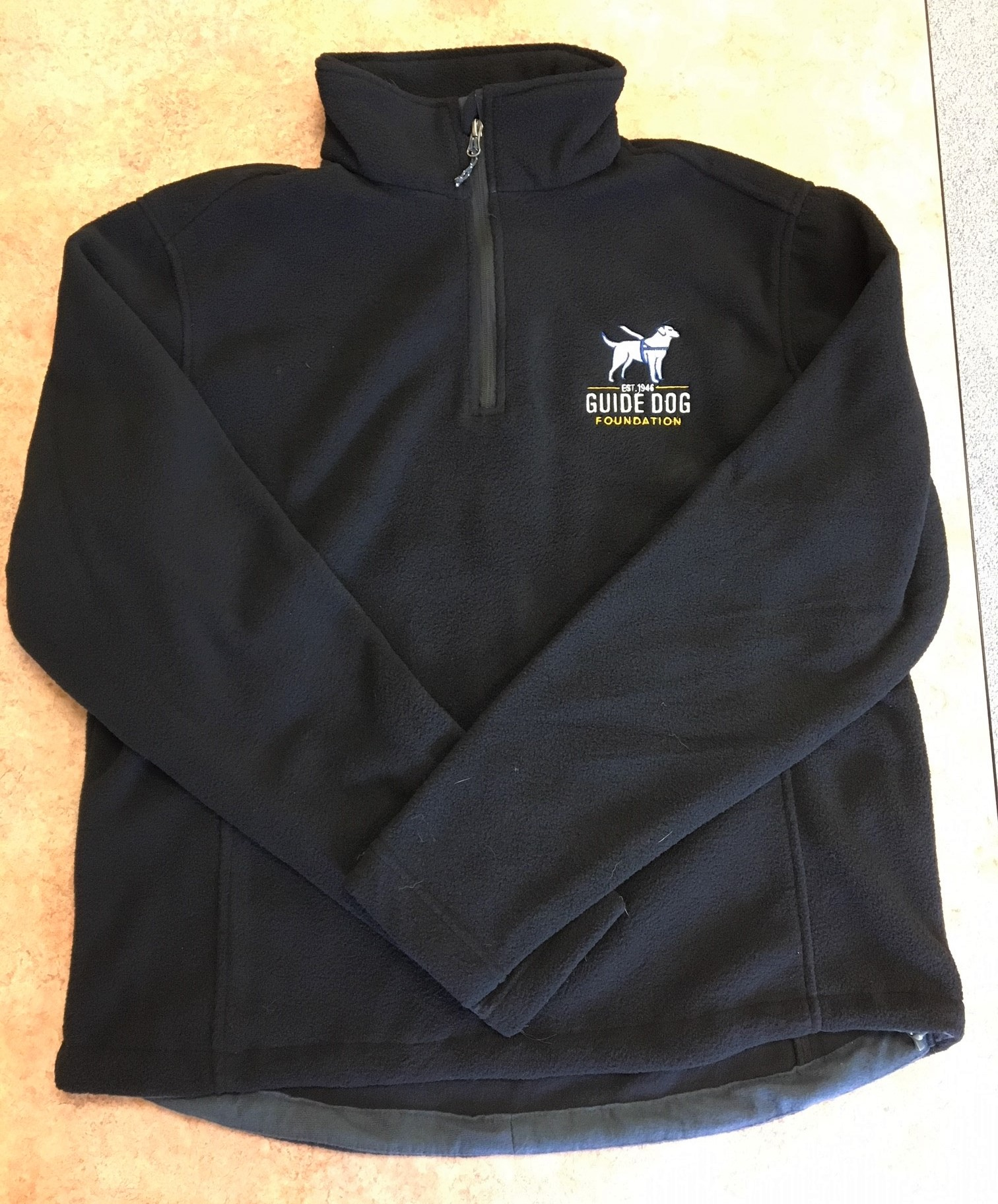 Guide Dog Foundation 1/4-Zip Fleece Pullover Jacket - XL